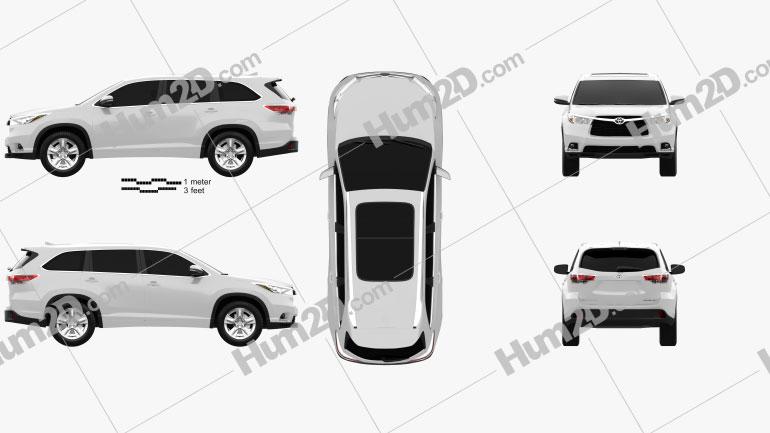 Toyota Highlander 2014 Clipart Image