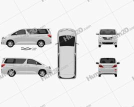 Toyota Alphard 2012 clipart