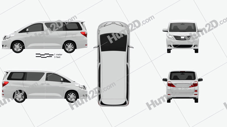 Toyota Alphard 2012 Clipart Image