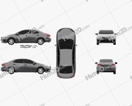 Toyota Corolla sedan 2014 car clipart