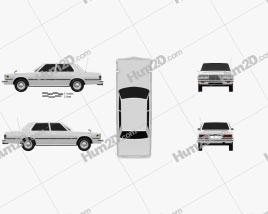 Toyota Crown sedan 1979 car clipart
