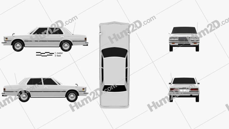 Toyota Crown sedan 1979 Clipart Image