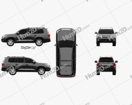 Toyota Land Cruiser (J200) 2013 car clipart