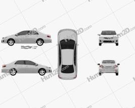 Toyota Corolla (E140) sedan EU 2012 car clipart