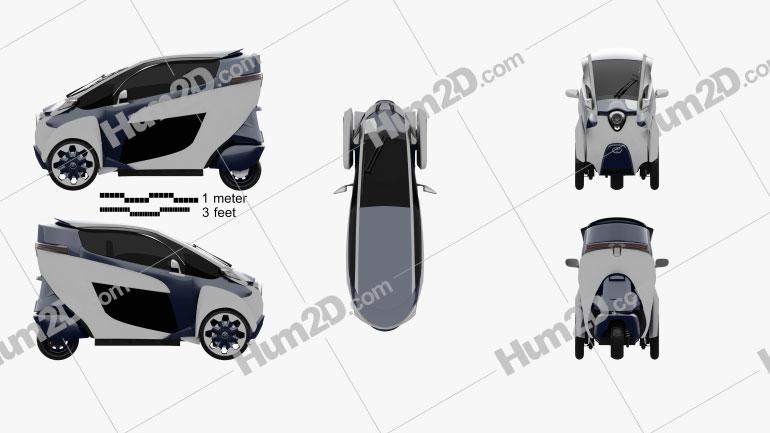 Toyota i-Road 2013 car clipart