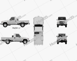 Toyota Land Cruiser (J79) Single Cab 2007 Clipart