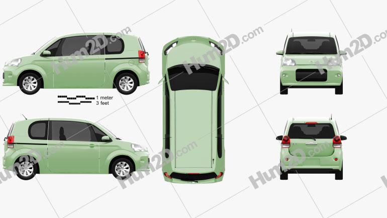 Toyota Porte 3-türig Schrägheck 2012 car clipart