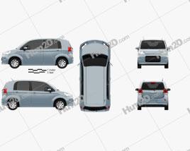 Toyota Porte 5-door hatchback 2012 car clipart