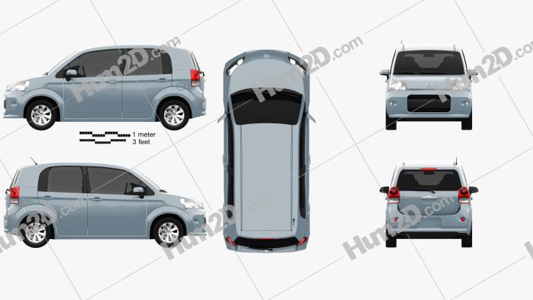 Toyota Porte 5-türig Schrägheck 2012 car clipart
