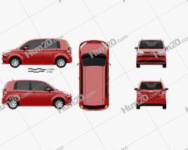 Toyota Spade 5-door hatchback 2012 car clipart