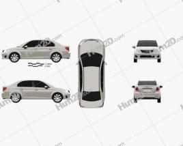 Toyota Corolla Axio 2012 car clipart