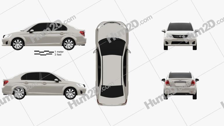 Toyota Corolla Axio 2012 Clipart Image