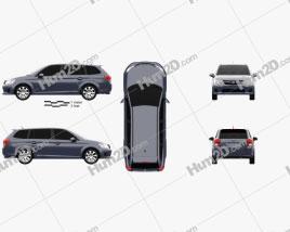 Toyota Corolla Fielder 2012 car clipart