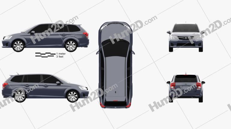 Toyota Corolla Fielder 2012 Clipart Image