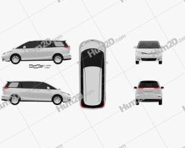 Toyota Previa 2013 clipart
