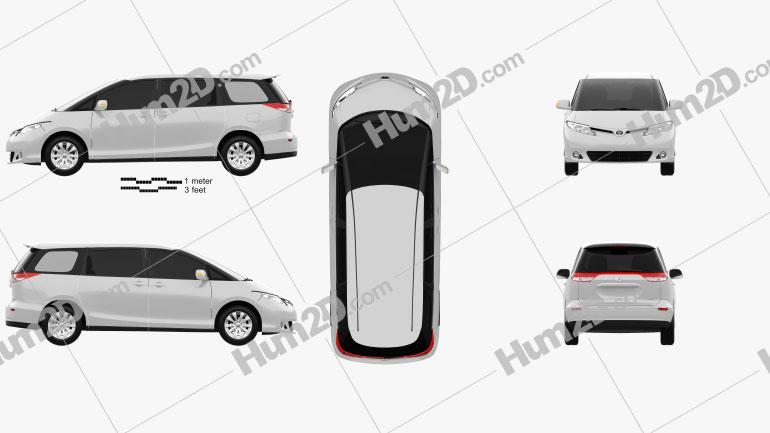 Toyota Previa 2013 Clipart Image