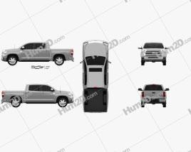 Toyota Tundra Crew Max 2013 Clipart