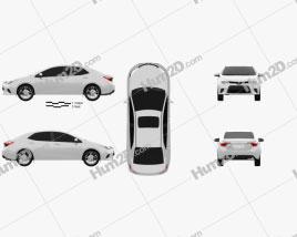 Toyota Corolla LE Eco US 2013 car clipart
