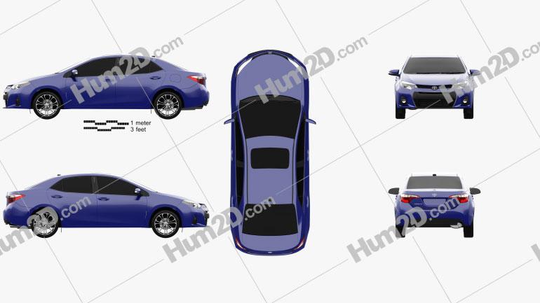 Toyota Corolla S US 2013 car clipart