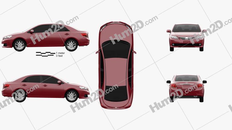 Toyota Allion (T260) 2010 Clipart Image