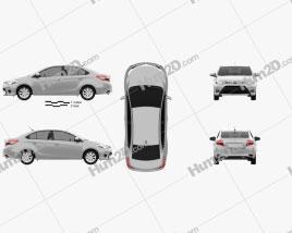 Toyota Yaris sedan 2014 car clipart