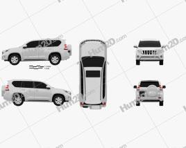 Toyota Land Cruiser Prado (J150) 5-door 2014 car clipart