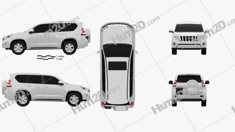 Toyota Land Cruiser Prado (J150) 5-door 2014 Clipart Image