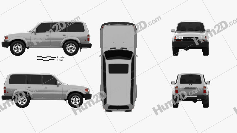 Toyota Land Cruiser (J80) 1995 car clipart