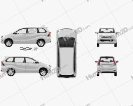 Toyota Avanza with HQ interior 2012 clipart