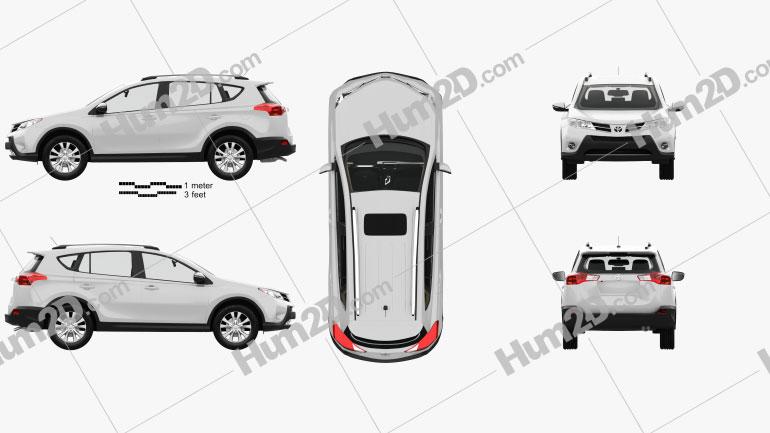 Toyota RAV4 with HQ interior 2013 car clipart