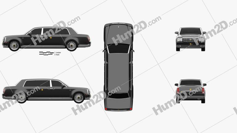 Toyota Century Royal 2006 Clipart Image