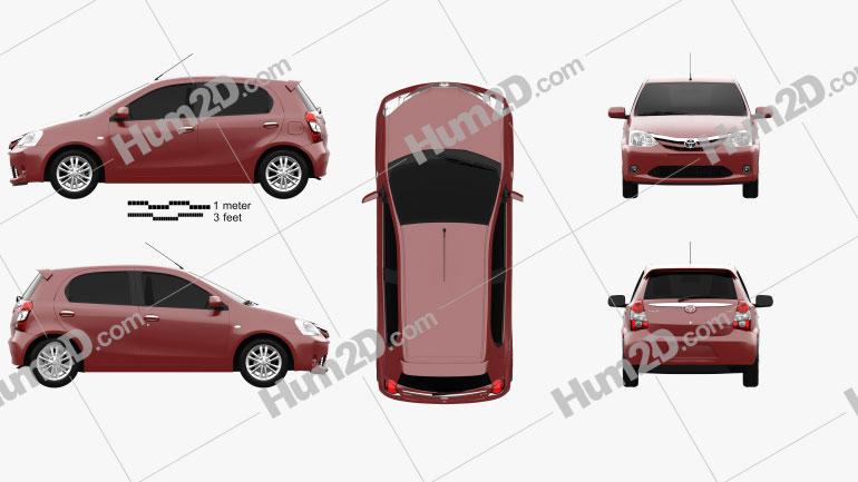 Toyota Etios Liva 2014 Clipart Image