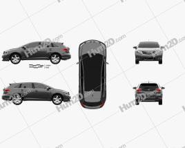 Toyota Venza 2012 car clipart