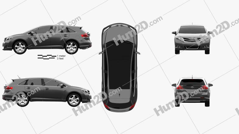 Toyota Venza 2012 Clipart Image