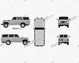 Toyota Land Cruiser (J55) 1975 car clipart