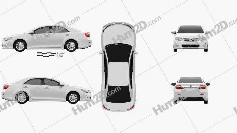 Toyota Camry Hybrid 2011 car clipart