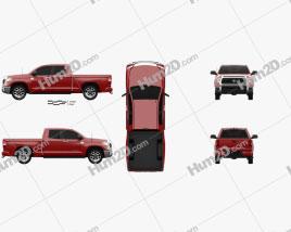 Toyota Tundra Double Cab 2013 car clipart