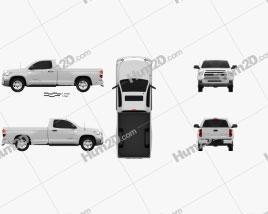Toyota Tundra Single Max 2013 car clipart