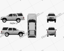 Toyota 4Runner 1992 car clipart