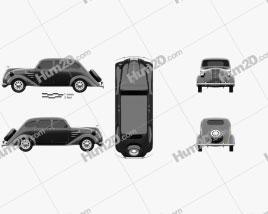 Toyota AA 1940 car clipart