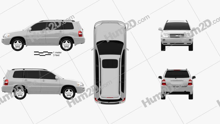 Toyota Highlander (XU20) 2003 Clipart Image