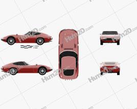 Toyota 2000GT 1969 car clipart