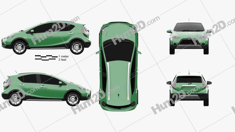 Toyota Aqua Cross 2013 car clipart