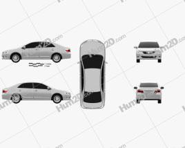 Toyota Premio 2010 car clipart