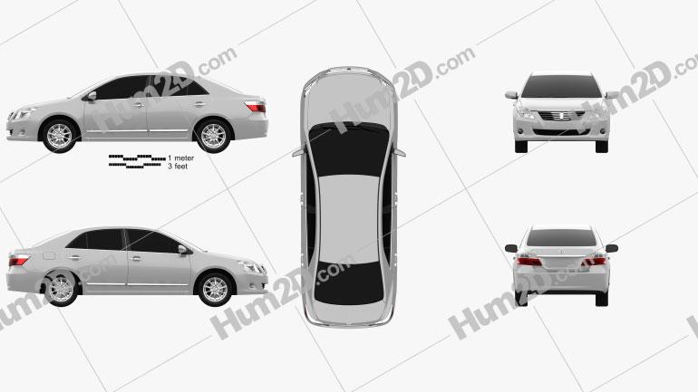 Toyota Premio 2010 Clipart Image