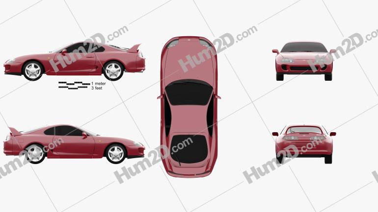 Toyota Supra 1993 Clipart Image