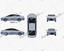 Toyota FCV-R 2012 car clipart