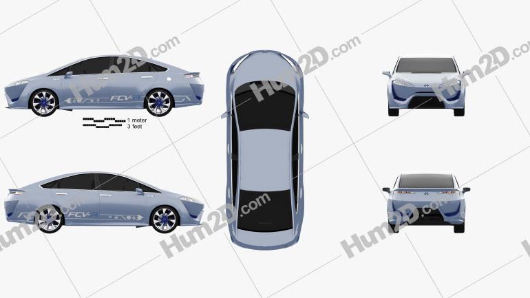 Toyota FCV-R 2012 Clipart Image