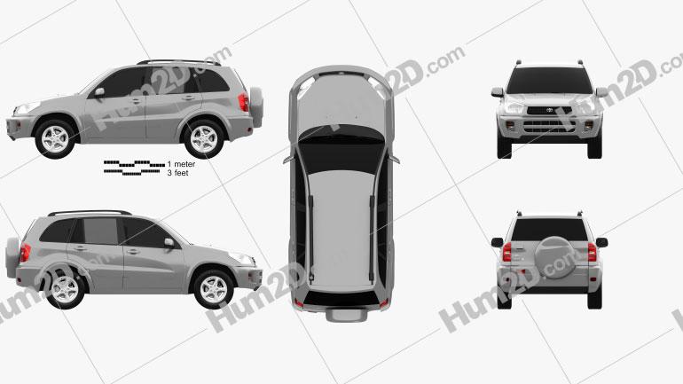 Toyota RAV4 5-door 2001 car clipart
