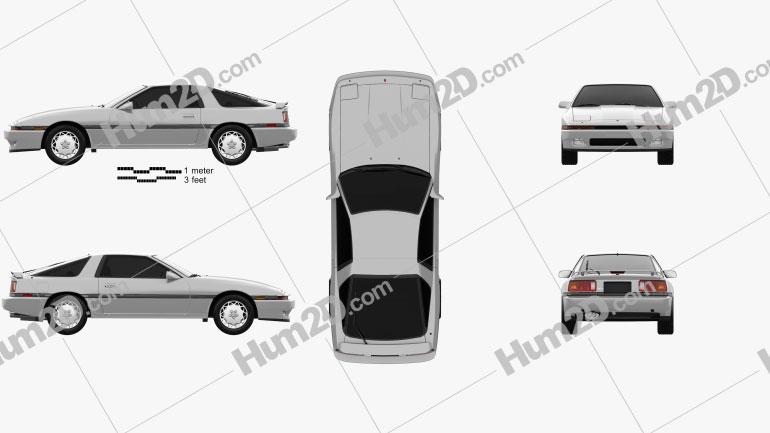 Toyota Supra 1986 car clipart